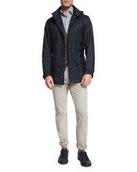 Ermenegildo Zegna Hooded Field Jacket Navy