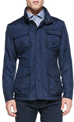 Hugo Boss Boss Lightweight Nylon Field Jacket Navy | Where to buy