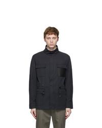 Salvatore Ferragamo Navy Cinch Jacket