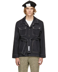 Daniel W. Fletcher Navy Contrast Stitch Field Jacket