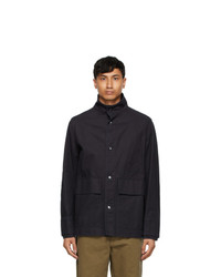 Mhl By Margaret Howell Navy Pigt Dyed Miners Jacket