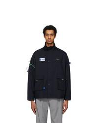 Ader Error Navy Rivet Label Jacket