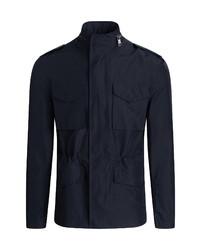 Bugatchi Water Resistant Hooded Zip Up Jacket