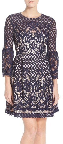 a12f7072d Eliza J Bell Sleeve Fit Flare Dress, $158 | Nordstrom | Lookastic.com