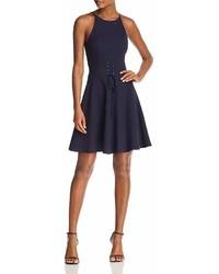 Aqua Corset Detail Fit And Flare Dress 100%