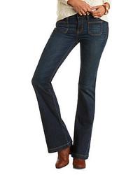 Charlotte Russe Dark Wash Flare Jeans