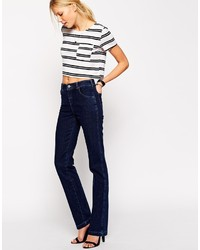 Asos Collection Slouch Flare Jeans In Dark Wash