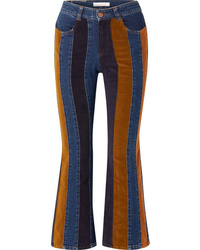 See by Chloe Cropped Ed High Rise Flared Jeans