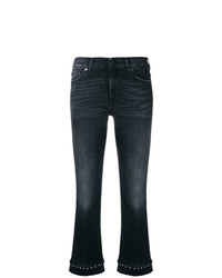 7 For All Mankind Cropped Fitted Jeans