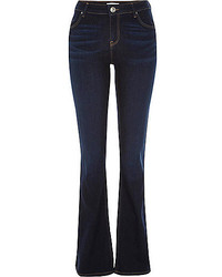 River Island Dark Wash Brooke Flare Jeans