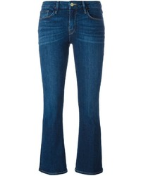 Frame Denim Cropped Bootcut Jeans