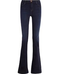 J Brand Maria High Rise Flared Jeans Dark Denim