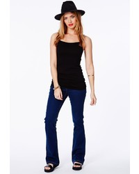 Missguided Stevie Bootcut Jeans In Indigo