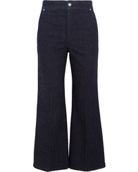 Isabel Marant Parsley Cropped Flared Jeans Dark Denim