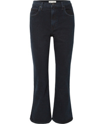 Proenza Schouler Pswl Cropped High Rise Flared Jeans