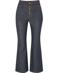 Ellery Pyramid Cropped High Rise Flared Jeans