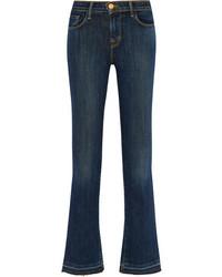 J Brand Selena Cropped Mid Rise Bootcut Jeans Dark Denim