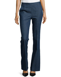 Donna Karan Stretch Denim Flared Trousers