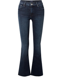 Mother The Weekender Fray High Rise Flared Jeans