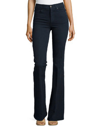 Stella McCartney Turtleneck Sweater With Slit Sleeves Denim Flare Leg Trousers