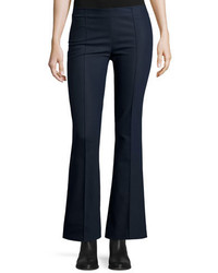 The Row Becaro Seamed Flared Pants Navy