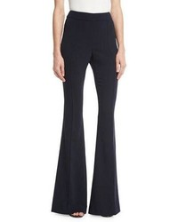 St. John Collection Stretch Cady Flared Pants Navy