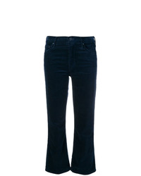 Mother Cropped Flared Trousers