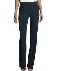 Thierry Mugler Flat Front Flare Leg Pants Navy