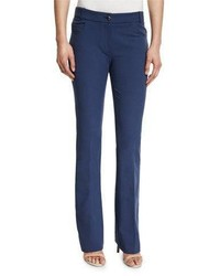 Peserico Four Way Stretch Flare Leg Pants Denim