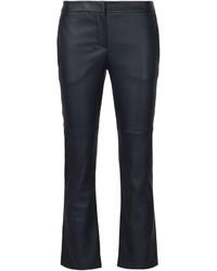 Brunello Cucinelli Kick Flare Leather Trousers