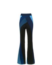 À La Garçonne Panelled Flared Trousers