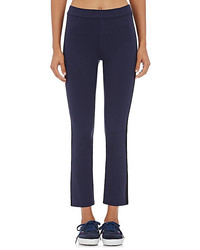 Tory Sport Striped Ponte Flared Crop Pants