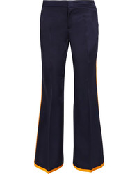 Gucci Striped Satin Flared Pants Midnight Blue