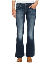 Rock and Roll Cowgirl Trousers Bootcut In Dark Vintage W8 2340 Jeans