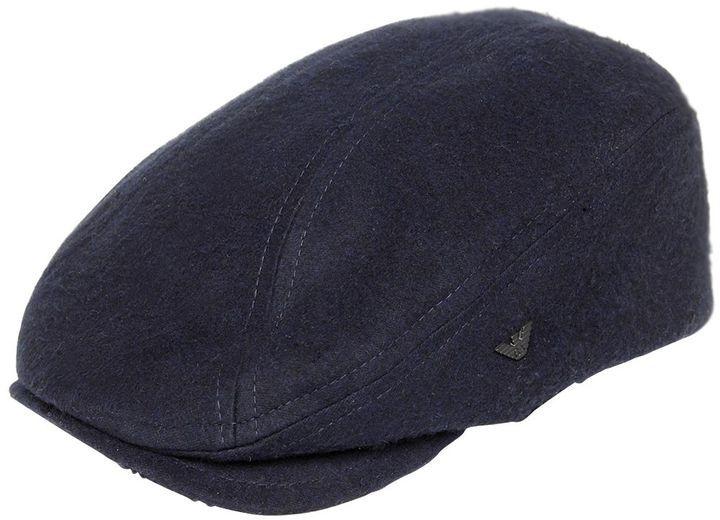 ... Emporio Armani Viscose Blend Felt Flat Cap ... 64cea0dac28