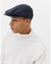 ASOS DESIGN Flat Cap In Navy Texture