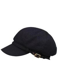 MCap Ladies Fashion Knitted Wool Newsboy Cap Black
