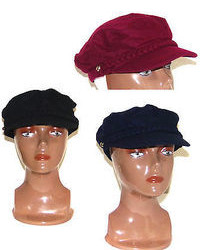 Nine West Newsboy Cap Hat Black Burgundy Navy Cabbie Conductor Hat Cap New