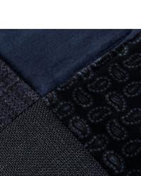 Etro Patchwork Velvet And Cotton Blend Flat Cap