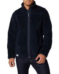 Navy Fleece Zip Sweater