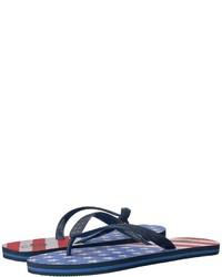Vineyard Vines American Flag Printed Flip Flop Sandals