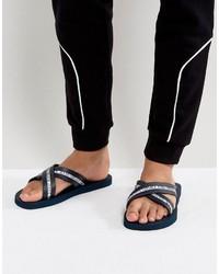 Versace Jeans Logo Crossover Flip Flop