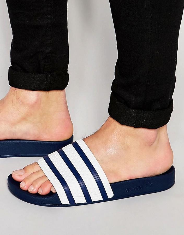 4b34d2b32 ... Navy Flip Flops adidas Originals Adilette Slider Flip Flops G16220 ...