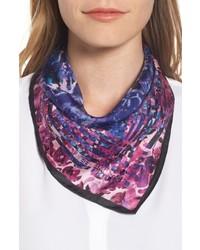 Rebecca Minkoff Painted Floral Silk Bandana