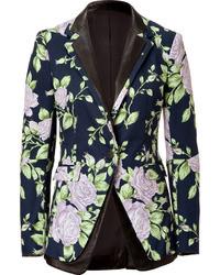 Navy Floral Blazer