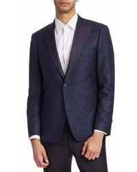 Saks Fifth Avenue Collection By Samuelsohn Classic Fit Floral Print Wool Dinner Jacket