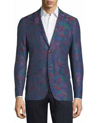 Etro Floral Print Cotton Sport Coat