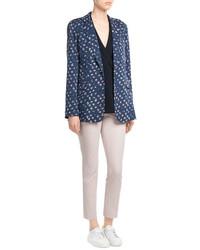 Diane von Furstenberg Printed Silk Blazer