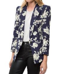 Women's Navy Floral Blazers by Smythe | Women's Fashion