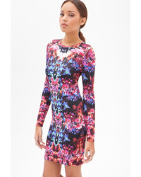 Forever 21 Kaleidoscopic Floral Dress